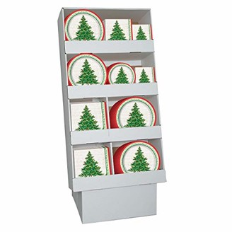 Unique Bulk Classic Christmas Tree Party Tableware Floor Display