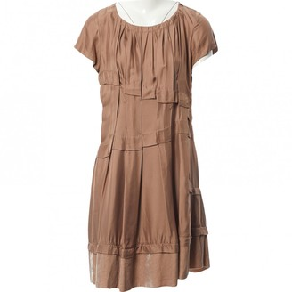Louis Vuitton Brown Silk Dresses