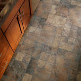 """Armstrong Flooring Stones and Ceramics 15.94"""" x 47.75"""" x 8.3mm Tile Laminate Flooring in Weathered Way Euro Terracotta"""