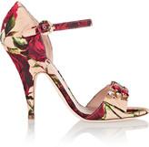 Dolce & Gabbana Embellished floral-print brocade sandals
