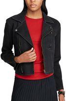 Chaps Women's Denim Moto Jacket