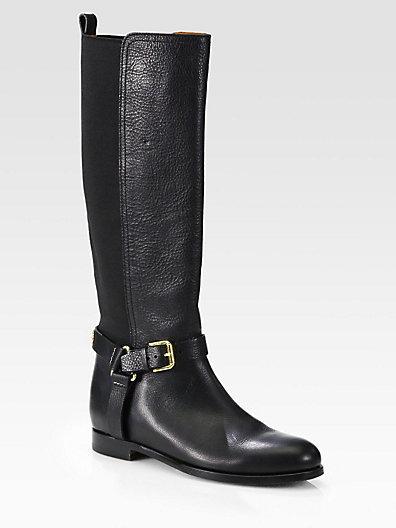 Ralph Lauren Sabeen Leather Riding Boots