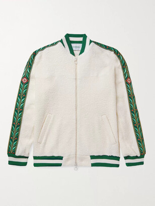 Casablanca Jacquard-Trimmed Terry Track Jacket
