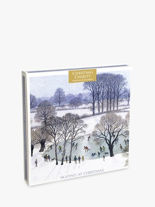 Museums & Galleries BBC Earth Skating at Christmas Cards, Pack of 12