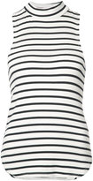 Frame striped racer back tank top