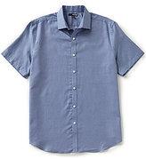 Murano Short-Sleeve Spread Collar Dobby Sportshirt