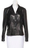 Prada Pleated Leather Jacket