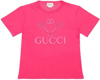 Gucci Logo Tennis Cotton Jersey T-shirt