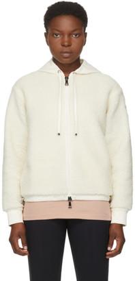 Moncler White Sherpa Sweater