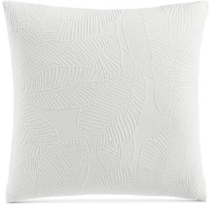 "Charter Club Damask Designs Woven Leaves 258-Thread Count 18"" x 18"" Decorative Pillow, Created for Macy's Bedding"