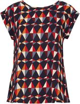 Izabel London Abstract Print Oversize T-Shirt
