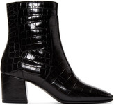 Givenchy Black Croc-Embossed Paris Boots