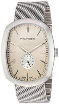 Philip Stein Teslar Men's 'Modern' Swiss Quartz Stainless Steel Casual Watch, Color:Silver-Toned (Model: 72-CBE-MSS)