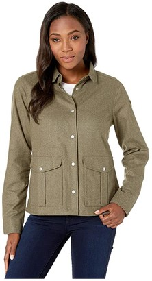 Fjallraven Greenland Re-wool Shirt Jacket (Laurel Green) Women's Coat