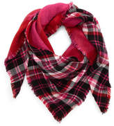 BP Reversible Plaid Triangle Scarf