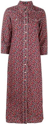 R 13 Floral Shirt Dress