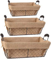 A&B Home Set Of Three Chicken Wire Baskets