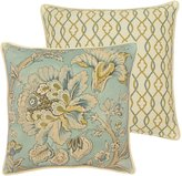 Rose Tree Odessa Jacobean Floral & Ogee Reversible Square Pillow