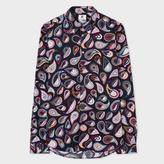 Paul Smith Men's Tailored-Fit Multi-Colour 'Paisley' Print Shirt