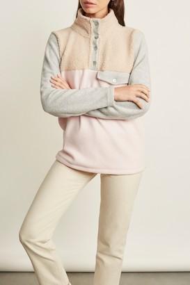 DONNI Tri-Mini Sherpa Pullover