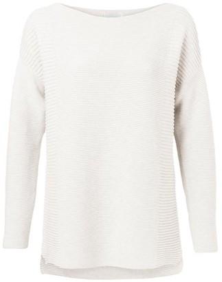 Ya-Ya Wool White Slit Sweater - X Small