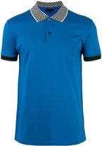 Lanvin checkerboard collar polo shirt - men - Cotton - L