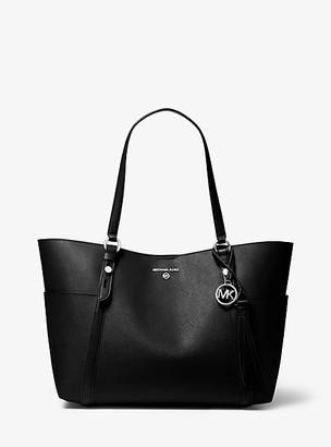 MICHAEL Michael Kors MK Nomad Large Saffiano Leather Tote Bag - Black/grey - Michael Kors