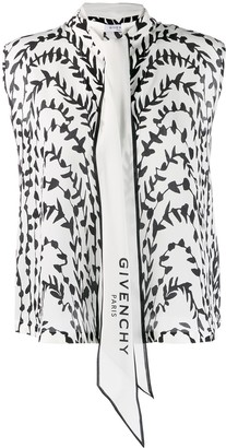 Givenchy Printed Pussy Bow Blouse