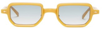 Jacques Marie Mage Astaire Square Acetate Sunglasses - Yellow
