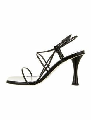 Proenza Schouler Leather Buckle Sandals w/ Tags Black