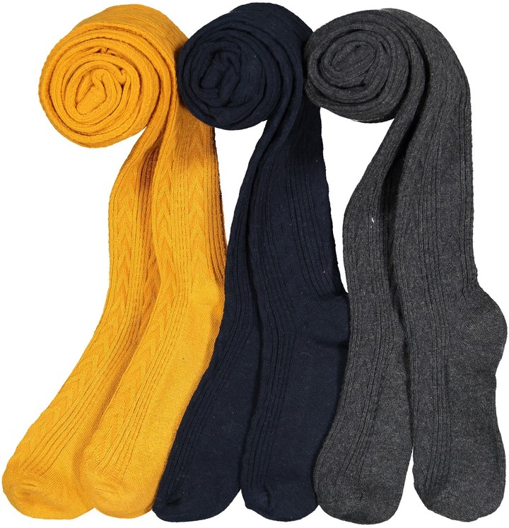 380b6e3f2b7f7 COLLECTIONS Pack of 3 Cable Knit Tights