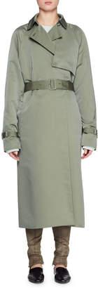 The Row Naita Belted Nylon Long Coat