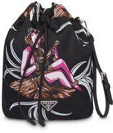 Prada Hawaii-print drawstring pouch