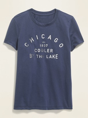 Old Navy Chicago Graphic Soft-Washed Tee for Girls