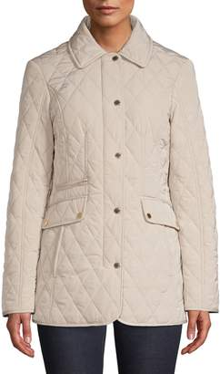 London Fog Quilted Snap-Front Jacket