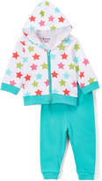 Sweet & Soft White Stars & Turquoise Pants - Infant