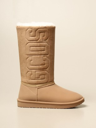 GCDS Boots Boot In Suede Fabric