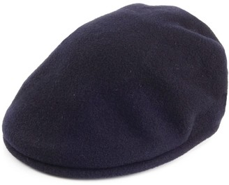 Kangol 504 Wool Flat Cap - Navy Blue Medium