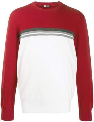 Ermenegildo Zegna colour block jumper