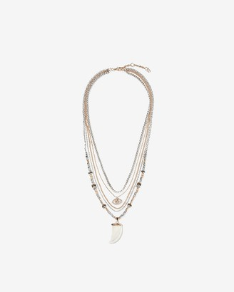 Express Multi-Row Horn Necklace