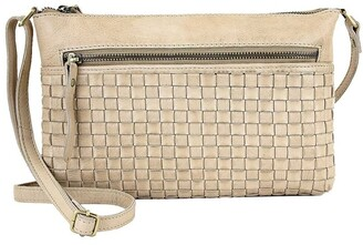 Prairie PRM208 Weave Zip Top Crossbody Bag