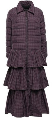 RED Valentino Tiered Quilted Shell Down Coat