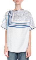 Loewe Scarf-Print Silk Blouse