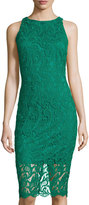 Alexia Admor Lace Overlay Midi Dress, Emerald Green