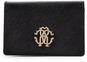 Roberto Cavalli Foldover Leather Wallet