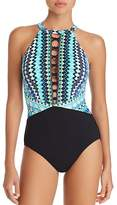 Profile by Gottex High Neck One Piece Swimsuit