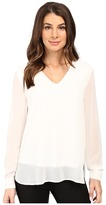 Calvin Klein Solid High-Low V-Neck Top