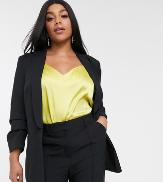 ASOS DESIGN Curve mix & match suit blazer