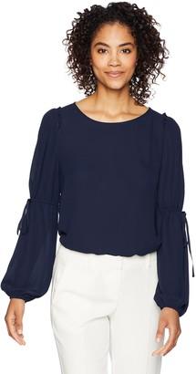Lark & Ro Amazon Brand Women's Long Sleeve Blouse with Ties