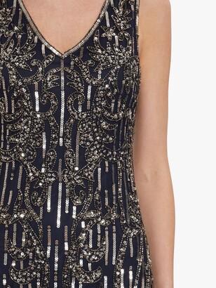 Gina Bacconi Alundra Beaded Maxi Dress